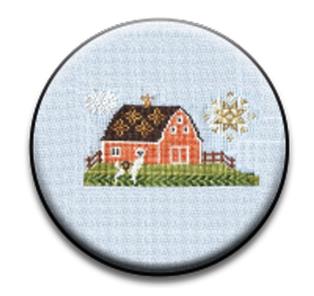 Stitch Dots - The Blue Flower - Alpaca Farm 2 Needle Nanny-Stitch Dots - The Blue Flower - Alpaca Farm 2 Needle Nanny, wool, farm, animals, magnet, cross stitch