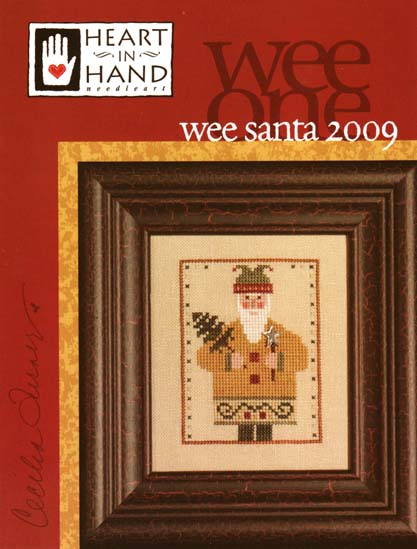 Heart in Hand Needleart - 2009 Wee Santa-Heart in Hand Needleart - Wee Santa 2009, Santa Claus, Christmas,