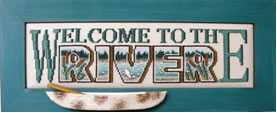 Hinzeit - Charmed - Welcome To The River - Cross Stitch Chart-Hinzeit - Charmed  - Welcome To The River - Cross Stitch Chart