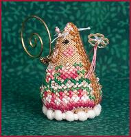 Just Nan - 2019 Ornament Shop - Sugarplum Fairy Mouse - Limited Edition-Just Nan - 2019 Ornament Shop - Sugarplum Fairy Mouse - Limited Edition, Christmas, cross stitch