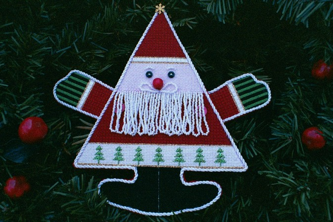 The Needle's Notion - Whiskers-The Beaded Santa - Needlepoint Pattern-The Needles Notion - Whiskers-The Beaded Santa - Needlepoint Pattern, Santa Claus, ornament, christmas, tree,