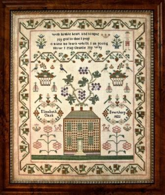 With Thy Needle & Thread - Elizabeth Clark 1822-With Thy Needle  Thread - Elizabeth Clark 1822, samplers, historic, Everthorpe 1822, cross stitch, John Fawcett,