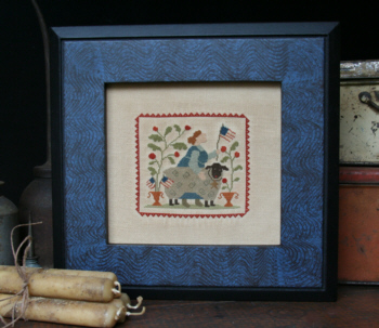 With Thy Needle & Thread - Flag Day-With Thy Needle  Thread - Flag Day, sheep, USA, americana, American flag, primitive, patriotic, cross stitch