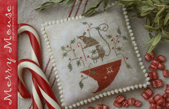 With Thy Needle & Thread - Merry Mouse-With Thy Needle  Thread - Merry Mouse, Christmas, ornament,