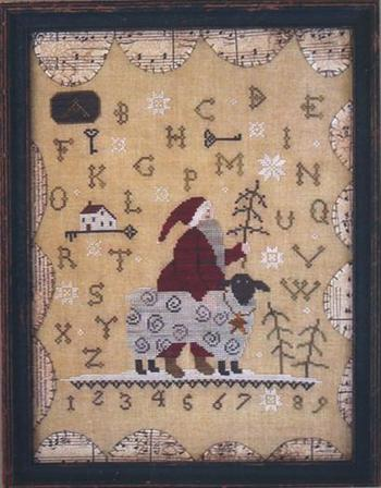 With Thy Needle & Thread - Merry Christmas to Ewe-With Thy Needle  Thread - Merry Christmas to Ewe, sheep, Santa Claus, Christmas, Christmas tree, sampler