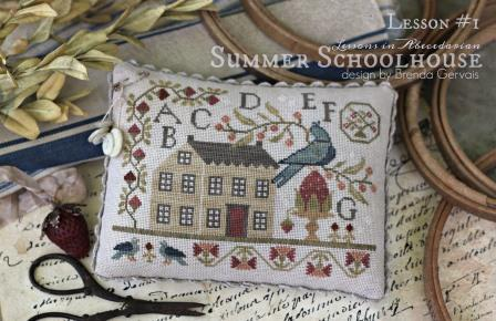 With Thy Needle & Thread - Summer Schoolhouse  Lessons in Abecedarian Part 1-With Thy Needle  Thread - Summer Schoolhouse  Lessons in Abecedarian Part 1, samplers, abcs lessons, cross stitch