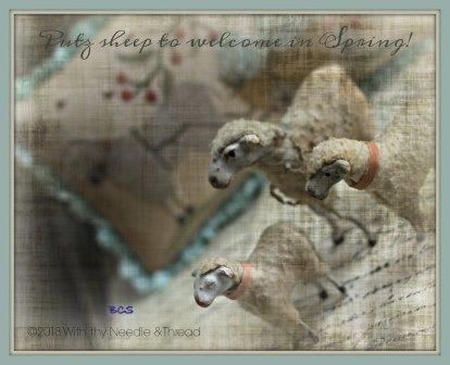 With Thy Needle & Thread - Welcome Spring-With Thy Needle  Thread - Welcome Spring, sheep, flowers, Easter, cross stitch