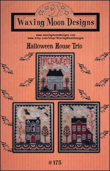 Waxing Moon Designs - Halloween House Trio