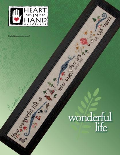 Heart in Hand Needleart - Wonderful Life-Heart in Hand Needleart - Wonderful Life, baby announcement, grandchildren, babies,  family,