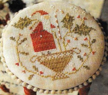 With Thy Needle & Thread - Merry Holly Berries-With Thy Needle  Thread - Merry Holly Berries, Santa Claus, candy cane, ornament, Christmas, cross stitch