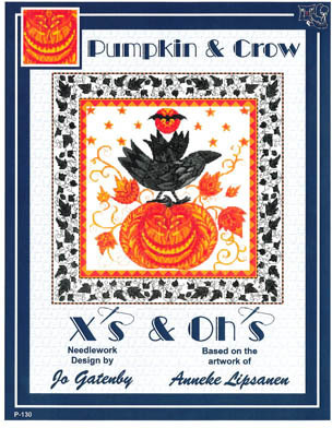 X's & Oh's - Pumpkin & Crow - Cross Stitch Pattern